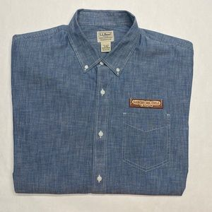 LL BEAN size XL CHAMBRAY DENIM SHIRT Reagan Ranch